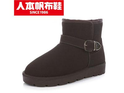 人本2020新款女雪地靴