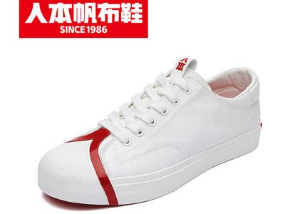 人本2020新款女帆布鞋