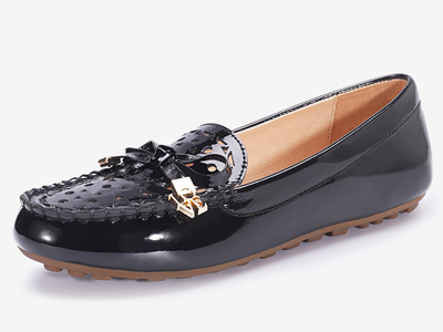 OZZEG豆豆鞋女2020春夏平底镂空单鞋