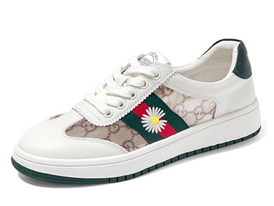 奥古斯都网面透气小白鞋女夏季薄款小雏菊