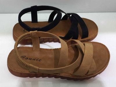 康妮女鞋2020夏季新款真皮舒适休闲平底凉
