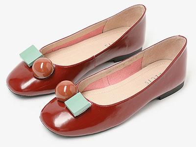 安玛莉2020秋季新款时尚浅口低跟单鞋