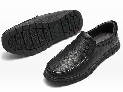 保罗盖帝一脚蹬商务休闲豆豆鞋