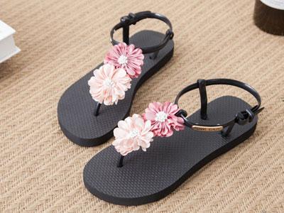 柏妮莱新款时尚百搭波西米亚度假海边沙滩鞋