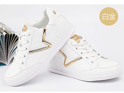 一步赢内增高女鞋潮鞋厚底休闲韩版小白鞋