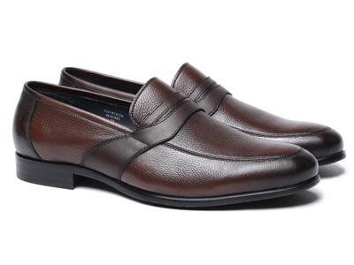 BRAUN-BUFFEL布兰施摔纹皮商务休闲皮鞋