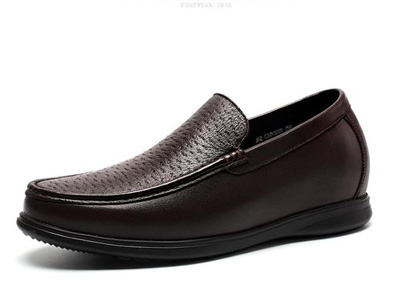 GOLDMoral金墨瑞男士套脚商务皮鞋增高鞋皮鞋