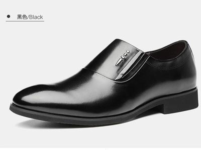 乔奈男鞋2020秋季新款一脚蹬套脚真皮透气休闲皮鞋