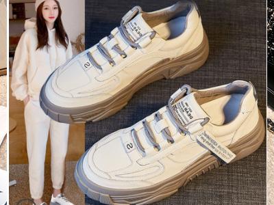 可美可莉小白鞋女2020洋气工装百搭老爹鞋