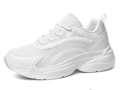 韩典娜百搭小白鞋女士运动鞋旅游波鞋厚底增高