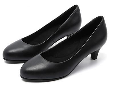 芭芭拉工作鞋空乘鞋女细跟黑色高跟鞋