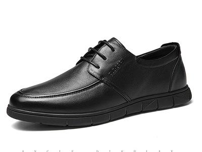 保罗盖帝软皮鞋男士商务休闲鞋透气百搭真皮男鞋