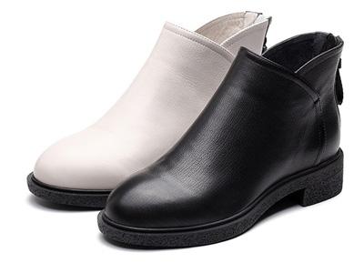 森达冬季2020新款街头潮流方跟女短靴
