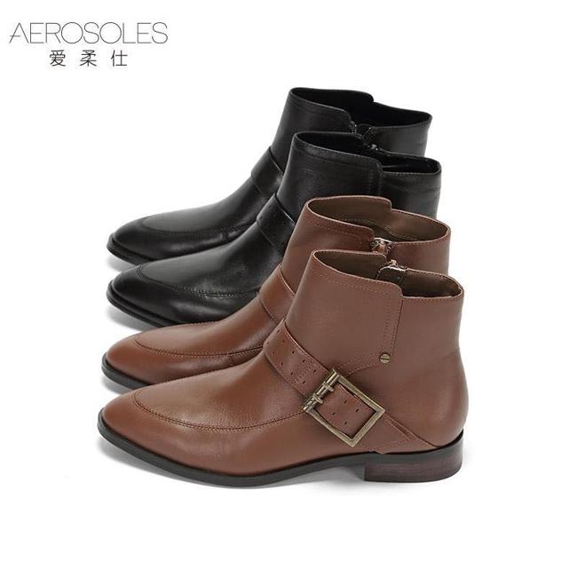 Aerosoles爱柔仕低跟舒适欧美女短靴