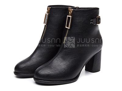 巨圣粗跟短靴女春秋新单靴冬靴子女马丁靴