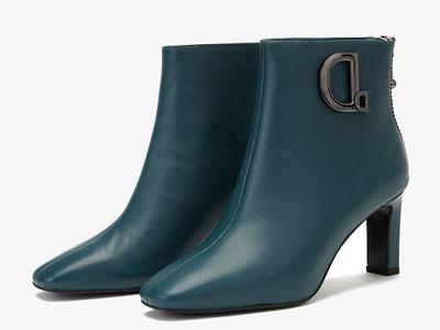 D:Fuse迪芙斯优雅知性的复古方头短靴