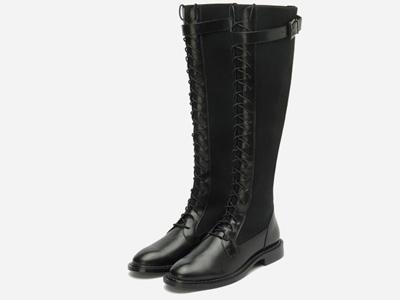 millies妙丽2020冬新款牛皮时尚过膝长靴高筒靴