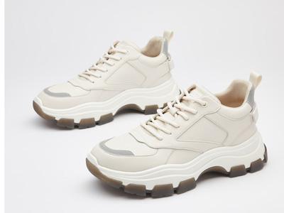 西遇男鞋2020新款时尚系带反光条白色运动鞋
