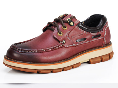 西瑞男休闲皮鞋真皮内增高男鞋冬季加绒商务正装