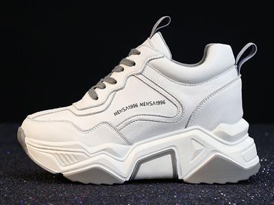 名典内增高小白鞋女2020春季新款厚底老爹