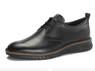 ECCO爱步正装皮鞋英伦休闲男鞋低帮德比鞋