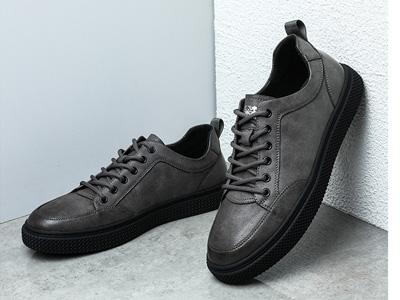 木林森男鞋春秋季薄款休闲皮鞋男士真皮