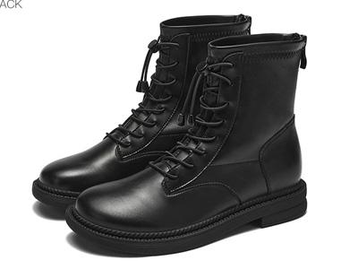 戈美其2021冬季新款后拉链短筒马丁靴子