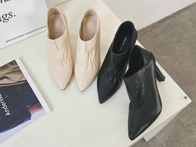 巨康高跟鞋细跟2021年秋款尖头单鞋女百搭性感皮鞋