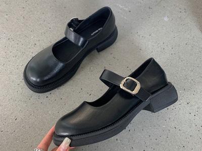 巨康女鞋2021秋厚底单鞋日系jk制服鞋复古玛丽珍鞋