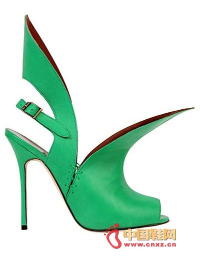 绿色带花边图片