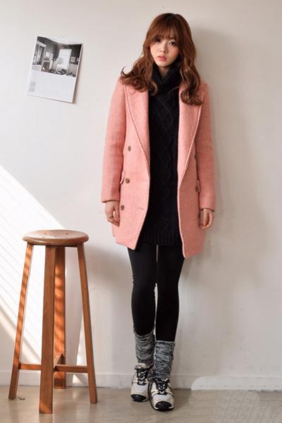 大衣 运动鞋的最in搭 穿出帅气运动范儿图片