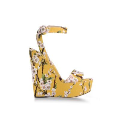 Dolce & Gabbana 印花坡跟凉鞋