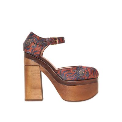 Rochas 印花厚底高跟鞋