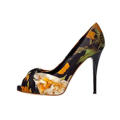 Giuseppe Zanotti 印花高跟鱼嘴鞋