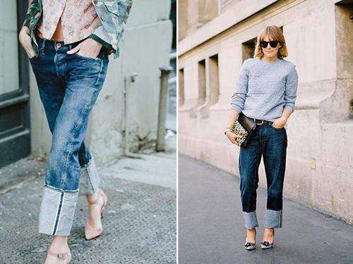 这种看似老旧的牛仔裤卷起裤脚来有没有很不一样呢