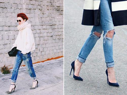 绝对高街的装扮,不管是波动牛仔苦还是Vintage感十足的萝卜裤