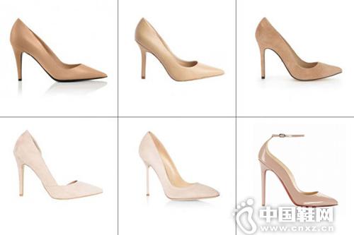 2:裸色高跟鞋