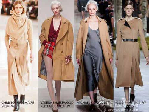 2014秋冬秀场上驼色大衣成为主要流行趋势图片