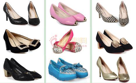 都市情人女鞋品牌鞋品展示