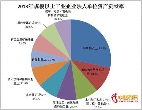 2013数据公布 皮革龙8国际娱乐手机登入资产贡献率居前十