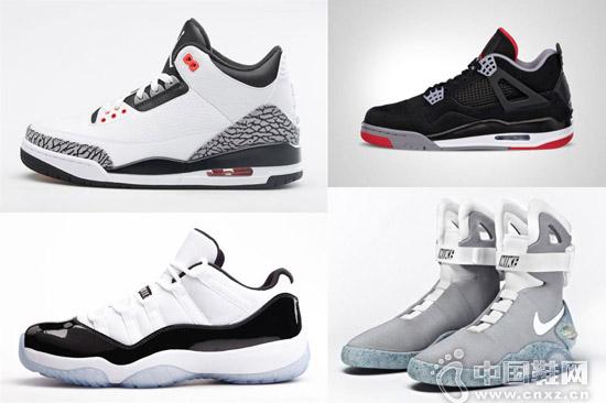 Air Jordan 3、4、11 和 Air Mag