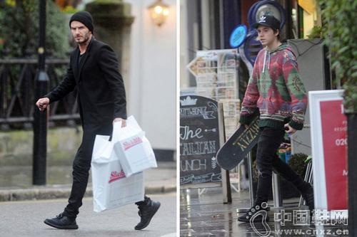 曝光!Beckham 父子穿上未曝光全黑adidas鞋款