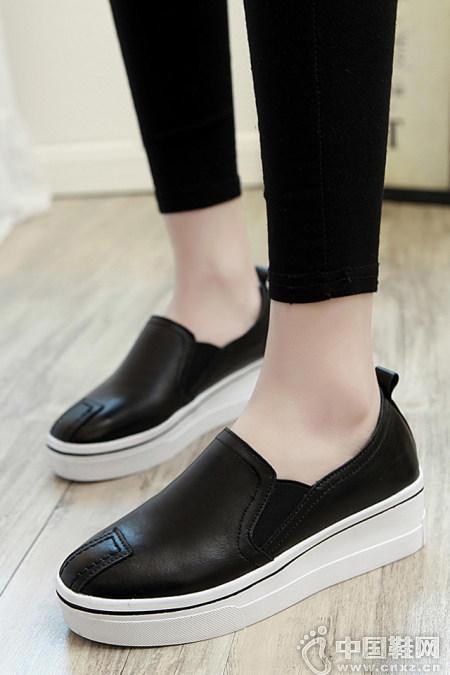 韩版舒适补丁一脚蹬懒人鞋