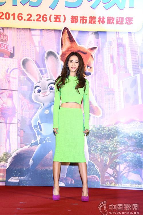 蔡依林23日在台北出席迪士尼动画《疯狂动物城》首映