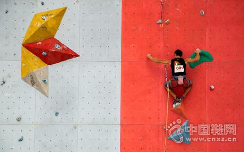"""""""峭壁上的艺术体操""""2016广州攀岩公开赛举行"""