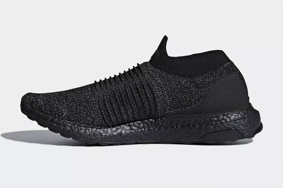 adidas UltraBOOST Laceless 全新Triple Black配色