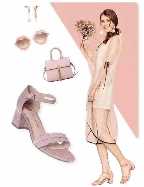他她TATA女鞋夏季新品优雅时髦一字带 520穿它约会美上天