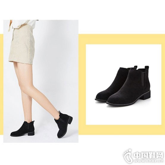westlink西遇女鞋2018冬季新款短靴搭配