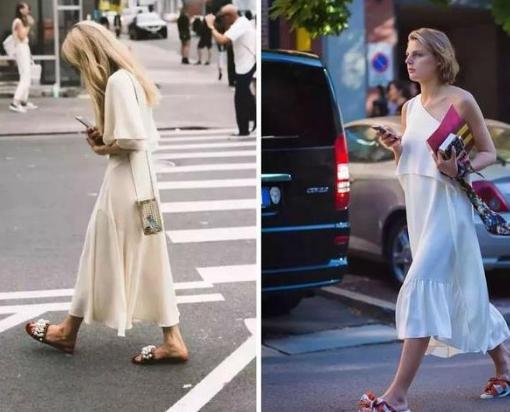 女生在夏天适合穿欧美,有v女生的?身材鞋子好女生图片