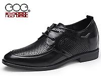 高哥2015夏季男士内增高商务透气皮鞋8.0厘米515523